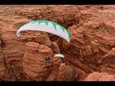 Paramotor Antelope Canyon!!! Powered Paragliding Extreme Adventure With SUPERS!!