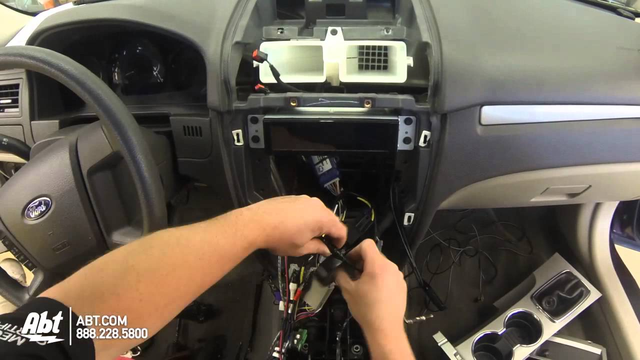 maxresdefault 2011 ford fusion dash replacement with metra dash kit youtube 2010 ford fusion stereo wiring harness at love-stories.co
