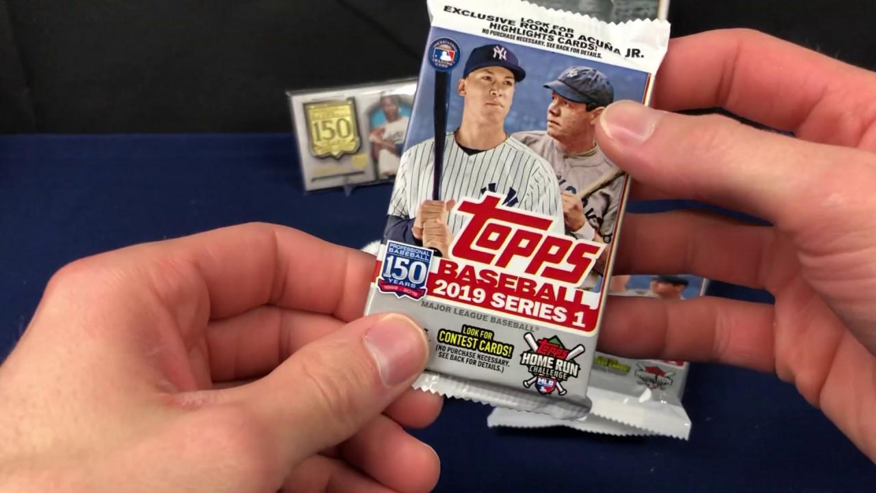 2019 Topps Baseball Series One Walmart Pack Break