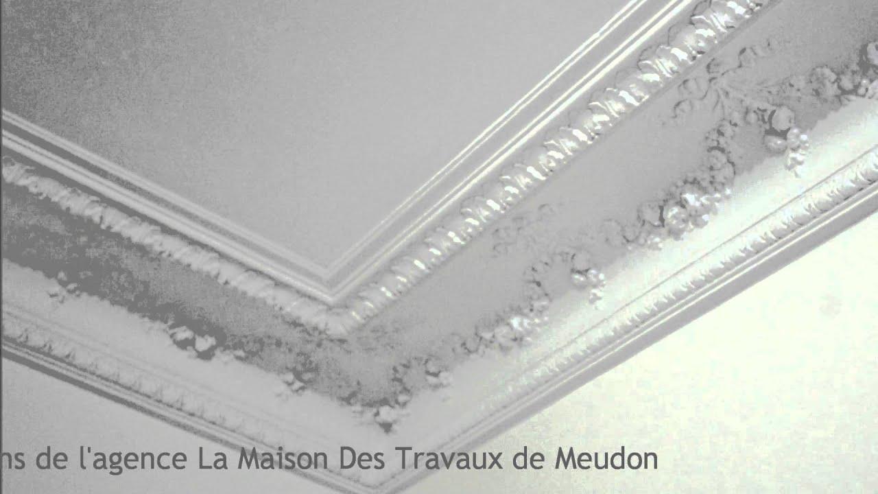 Restauration plafonds haussmannien moulures et rosaces  Staffeur Paris  YouTube