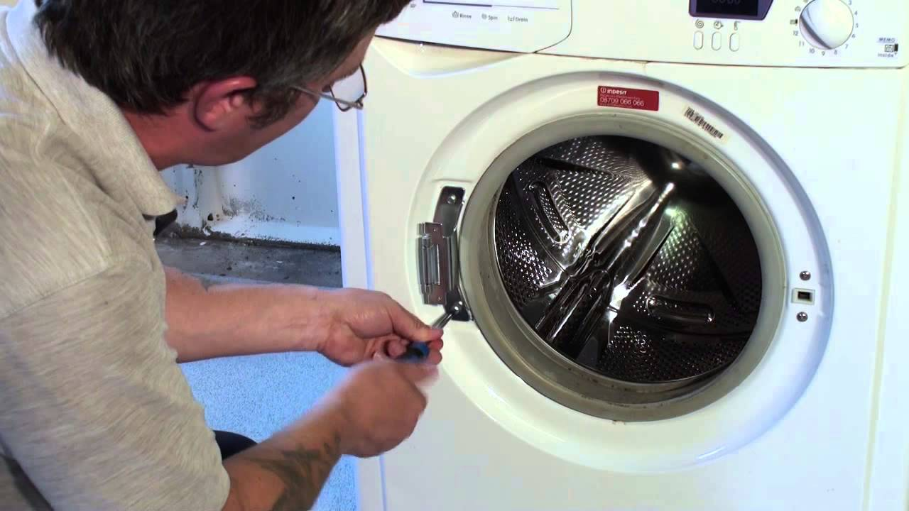 How To Replace A Washing Machine Door Hinge Indesit