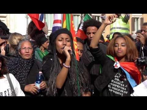 Eritrean demonstration in Rome, Italy - Denunciation of the Dictatorial Regime in Eritrea