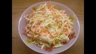Простой, зимний салат из редьки с морковью и сыром.