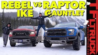 Best Towing Off-Road Truck! Ford Raptor vs Ram Rebel vs World's Toughest Towing Test thumbnail