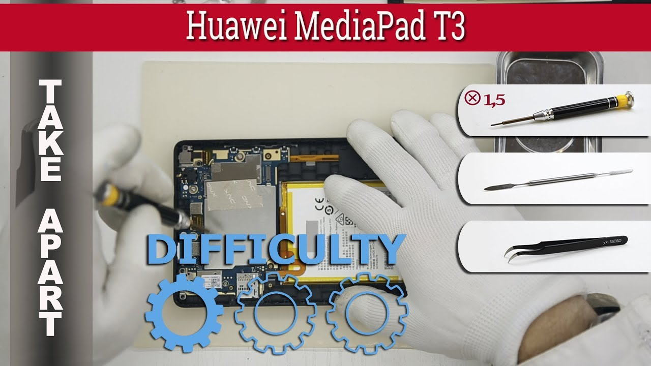 How to disassemble 📱 Huawei MediaPad T3 (bg2-w09) Take apart