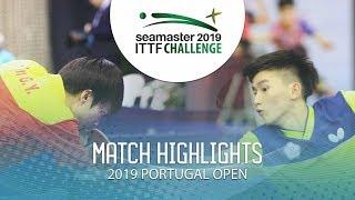 Lin Gaoy./Liang J. vs Li H.-Y./Sun C.-H.   2019 ITTF Challenge Plus Portugal Open Highlights ( R16 )