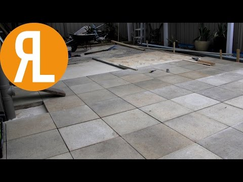 How To Lay Pavers - Back Yard Renovation Part 5 - 1
