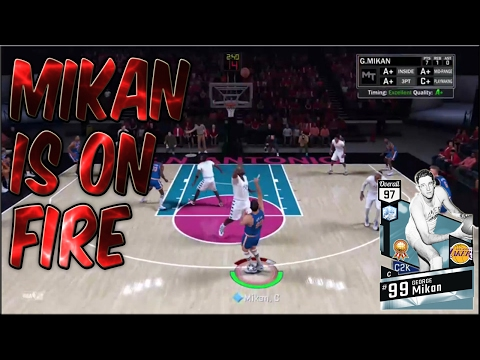 UPDATED DIAMOND GEORGE MIKAN GOES OFF!! GETS A DOUBLE DOUBLE! NBA 2K17 MYTEAM ONLINE