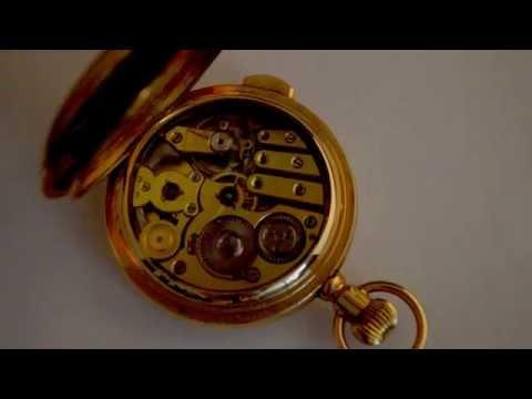 Antique 1900's J.ULLMANN & Co Hong Kong Shanghai 14K Gold Minute Repeater