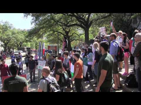 University Of Texas Students Protest Israel Block Party