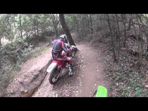 KX 85cc Trails riding at pacific park - GO PRO