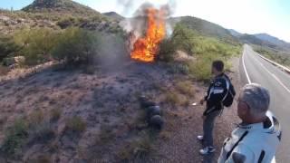 motorcu kaza yaparsa motor yandı motorcu pert