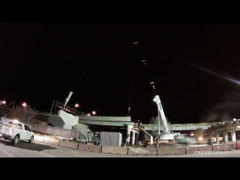 ORBP: I-65 S @ Louisville Slugger Field beam install timelapse