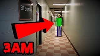 DONT GO TO BALDI'S SCHOOL AT 3AM OR BALDI.EXE WILL APPEAR! | HAUNTED BALDI.EXE IS REAL!!