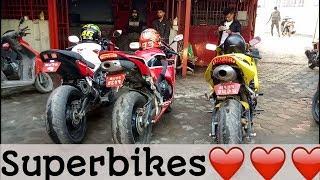 City ride with superbikes CBR600rr CBR 650f||motovlog ep 26||gabbarsujan||vlog