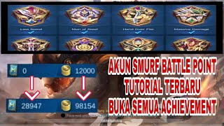 CARA TERBARU AKUN SMURF BATTLE POINT OPEN ALL ACHIEVEMENT | MOBILE LEGENDS