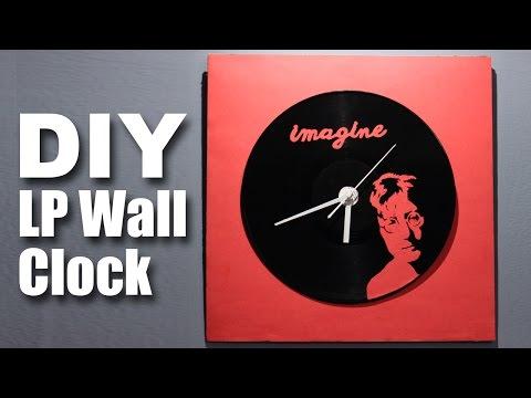 How to make a DIY LP Wall Clock   John Lennon Special