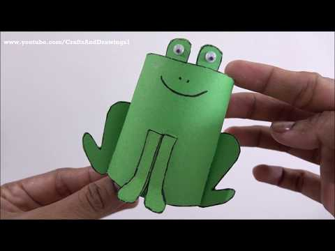DIY Paper Roll Frog For Kids !! Easy Paper Roll Craft ~ Tutorial ~ Step By Step ..