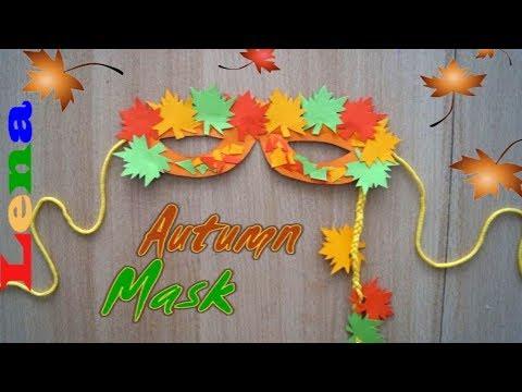 Herbstliche Maske Basteln Herbst Blatt Zeichnen How To Make