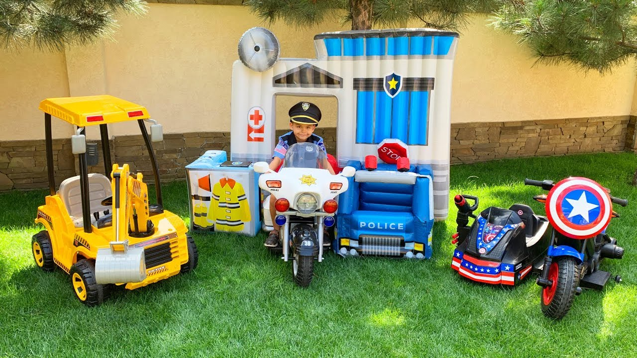 Dima shows his new power wheels cars collection