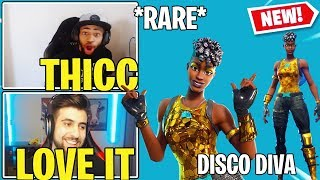 "Streamers React to 'NEW' Fortnite ""DISCO DIVA"" Skin ' DISCO BALL BackBling!!"