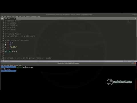 Bangla Python Tutorial - 02.12 - print() once again thumbnail