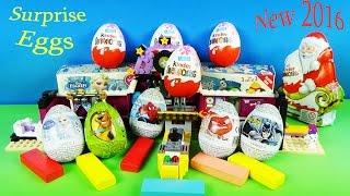 Surprise Eggs Toys FROZEN Kinder Egg Surprise Superman Batman Kids Videos NEW!!!