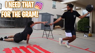 I Need That For The Gram Basketball Challenge | FIRST VIDEO IN THE NEW BACKYARD!!