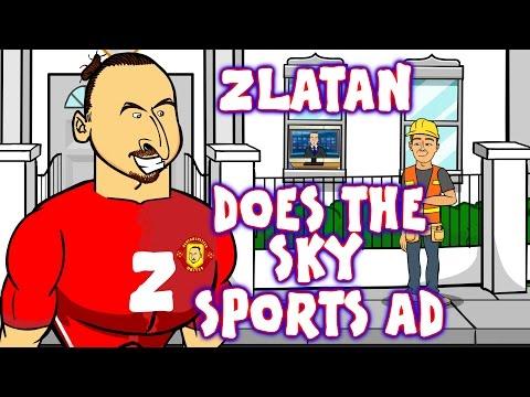 Zlatan does the Sky Sports David Beckham Ad! (Parody Advert Ibrahimovic)