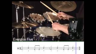 Learning Drums Lesson - 1/4 note rock grooves