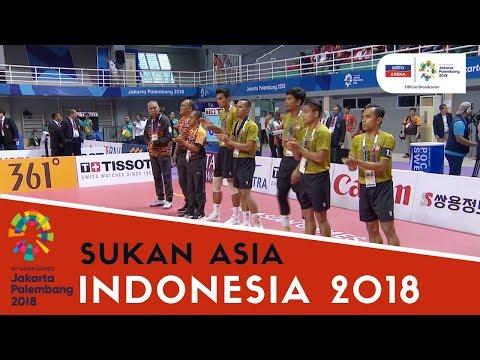Sukan Asia Indonesia: Sepak Takraw | MAS lwn INA | Set 1 | Akhir  | Astro Arena