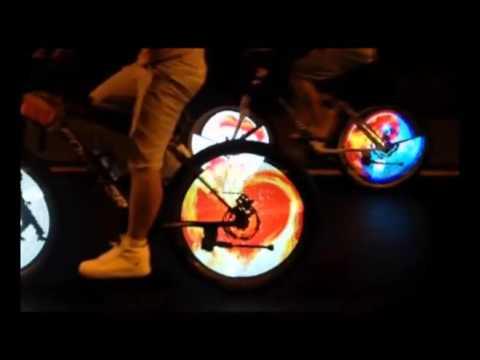 Programowalne Animowane światła Rowerowe Led Na Kolo