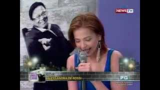 Tonight with Arnold Clavio: Alessandra 'Alex' de Rossi, may potential maging host?