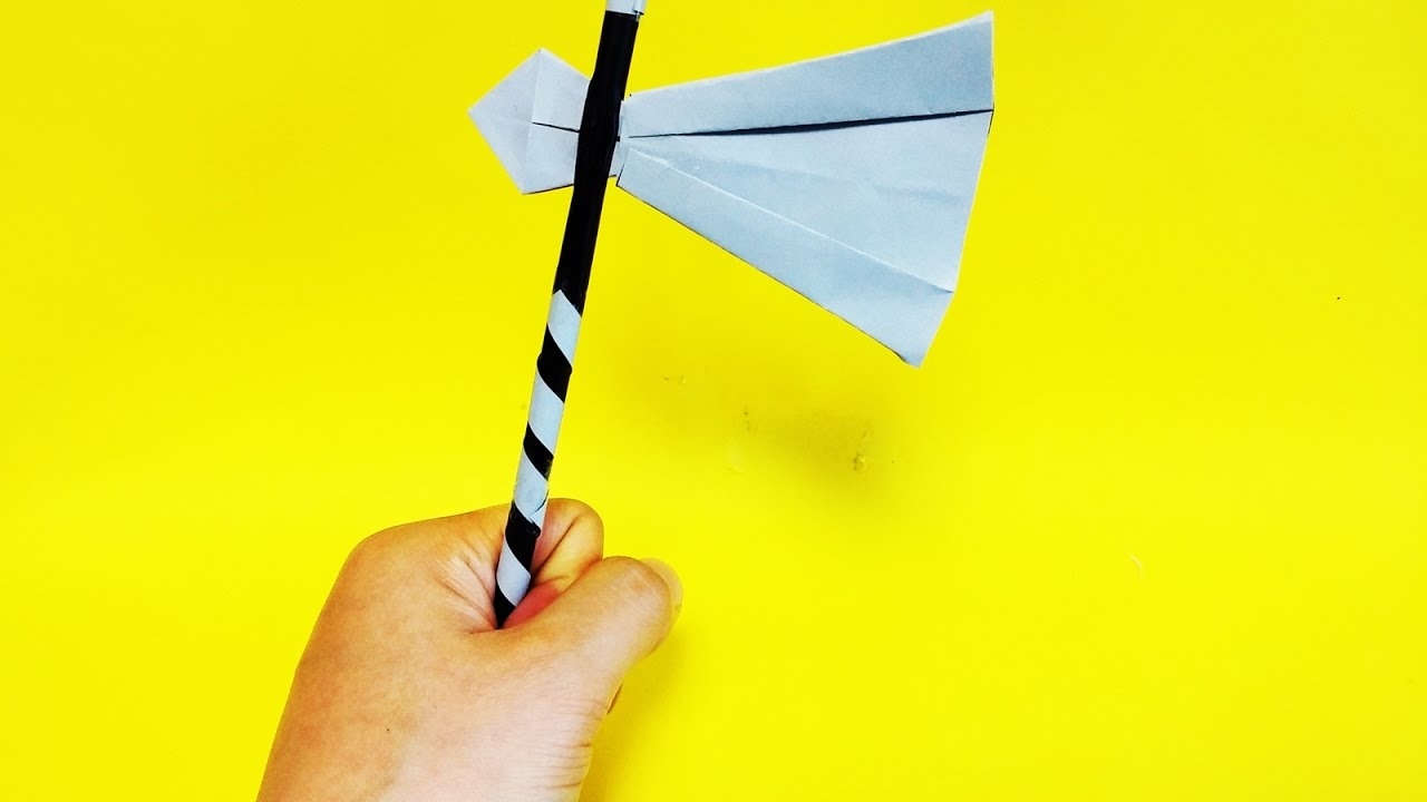 how to make axe with paper