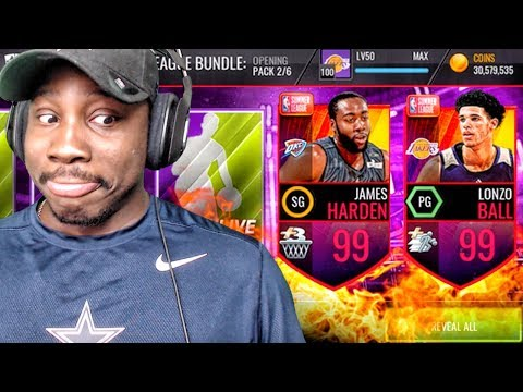 99 OVR JAMES HARDEN IN SUMMER LEAGUE PACK OPENING! NBA Live Mobile Gameplay Ep. 153