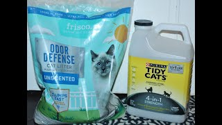 Frisco (Chewy) vs Purina Tidy Cats – Cat Litter Comparison & Review