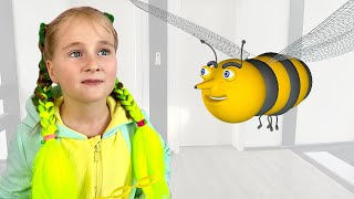 Annie pretend play with bee