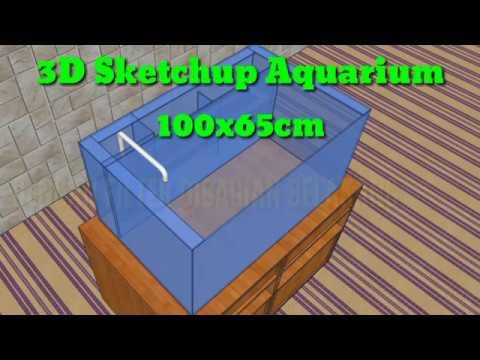 3D SKETCHUP AQUARIUM || SKEMA ARUS AIR