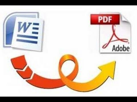 Convert a Word documents to PDF for free - YouTube