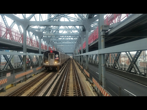 BMT Jamaica Line: Riding Budd Company R32 J Train from Canal St. to Flushing Av (4/22/17)
