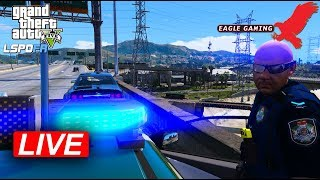 GTA V | LSPDFR Live! | Los Santos Highway Patrol in the QLD Police RPC SS Wagon