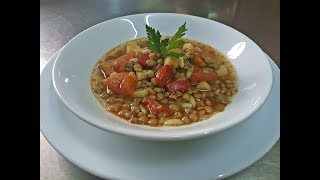 Healthy Green Lentils Recipe Juicy Food With Olive Oil