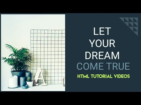 HTML Tutorials For Beginners #1 - How To Build A Web Site Tutorial - HTML Tutorials - Learn HTML