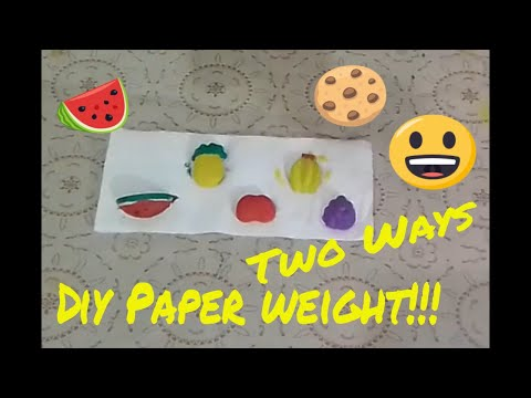 How to Make Paper weight At Home _ Diy Paper weight in Two Ways_ Sara Fun Zone