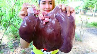 Yummy Pig Liver Sour Sweet Cooking  Pig Liver Cooking  Cooking With Sros