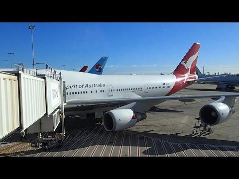 Flight Review Qantas Tokyo Haneda to Sydney Premium Economy B747-400