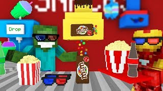 Monster School: WORK AT THE MOVIE THEATER! - Minecraft Animation
