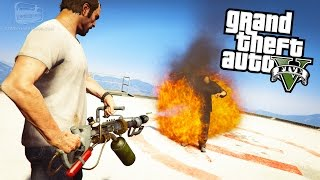 GTA 5 - Weapon Mods #3 - Flamethrower, Crossbow, Blaster, Paintball Gun, Lightsaber and Pokeball