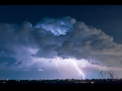 Laureate Lightning Thunderstorm Time Lapse Short