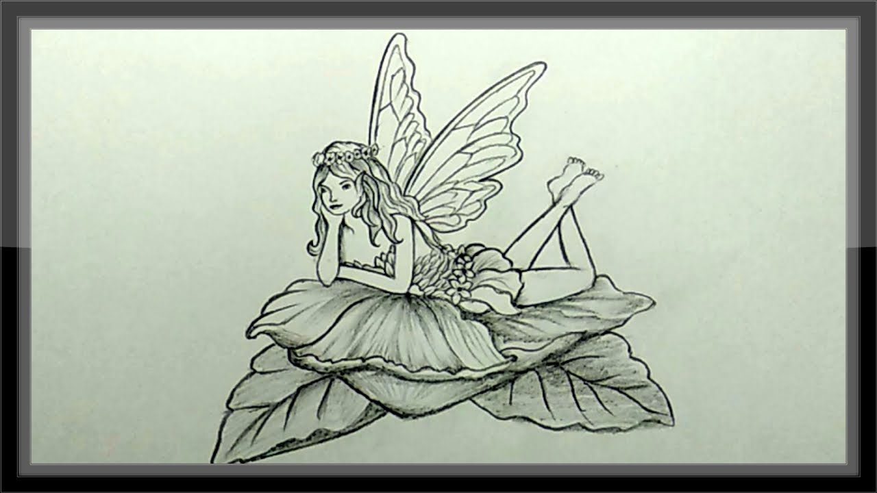 Pencil Drawing - Fairy Drawing Step By Step Easy - YouTube